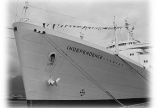 Trident ship picture during WW2